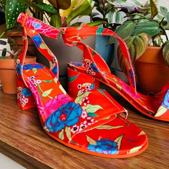 ALDO satin chunky heels
